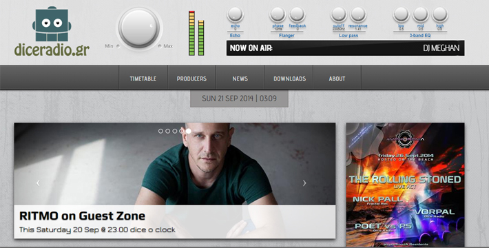 Dice Radio Web Portal feature image